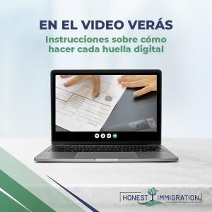 Kit de Huellas Digitales en Español para Solicitud de Antecedentes Penales del FBI